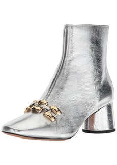 Marc Jacobs Women's Remi Chain Link Ankle Boot silver 3 M EU ( US)