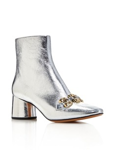 MARC JACOBS Women's Remi Leather & Chain Link Ankle Booties