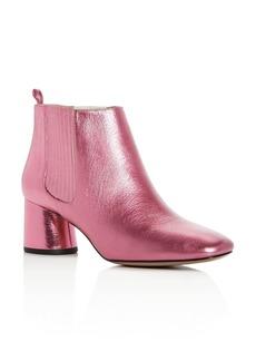 MARC JACOBS Women's Rocket Leather Round Block Heel Chelsea Booties