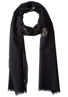 Marc Jacobs Women's Sequin Bow Scarf in Black Multi