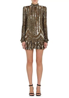 Marc Jacobs Women's Sequin-Embellished Wool Tulle Minidress
