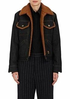 Marc Jacobs Women's Sherpa-Lined Denim Jacket