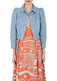 Marc Jacobs Women's Studded Eyelet Denim Crop Jacket
