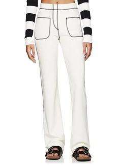 Marc Jacobs Women's Topstitched Stretch-Jersey Pants