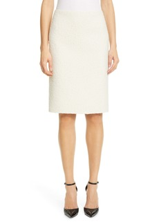MARC JACOBS Wool Blend Bouclé Pencil Skirt