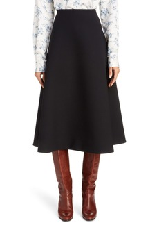 MARC JACOBS Wool Compact Crepe A-Line Skirt