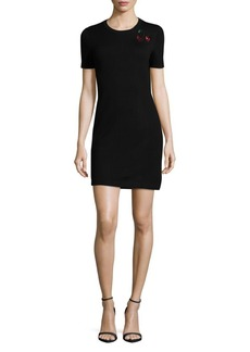 Marc by Marc Jacobs Wool Embroidered Dress