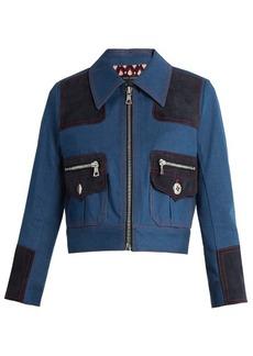 Marc Jacobs Zip-front cropped denim jacket