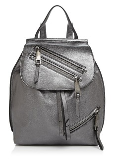 MARC JACOBS Zip Pack Small Metallic Backpack