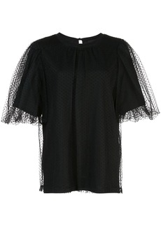 Marc Jacobs mesh layered T-shirt