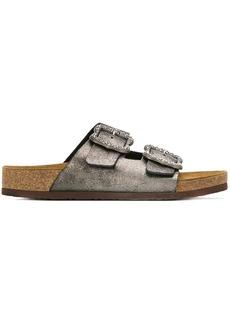 Marc Jacobs metallic buckle sandals