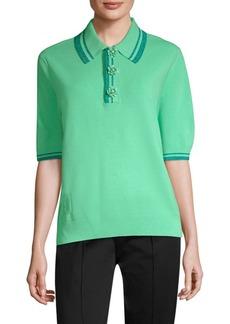 Marc Jacobs Metallic Stripe Polo Shirt