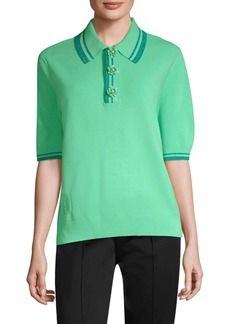 Marc Jacobs Metallic Stripe Polo Shirt