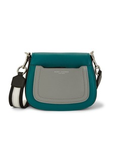 Marc Jacobs Mini Colorblock Pebbled-Leather Saddle Bag