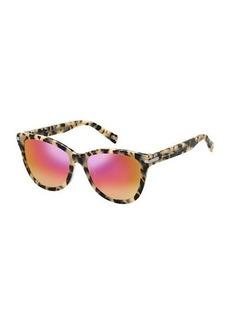 Marc Jacobs Mirrored Iridescent Cat-Eye Sunglasses  Pink Havana