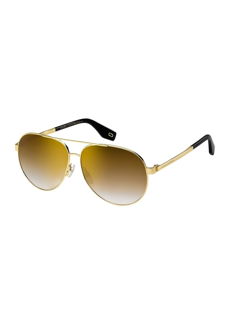 0745e1b63288 Marc Jacobs Mirrored Metal Aviator Sunglasses | Sunglasses