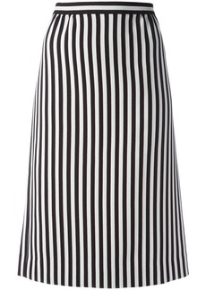 Marc Jacobs monochrome striped A-line skirt