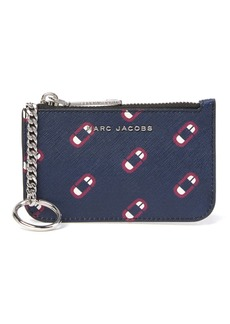Marc Jacobs Monogram Screams Leather Card Case