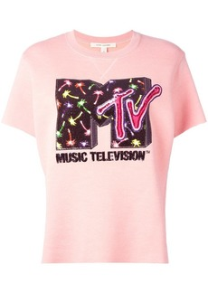 MTV x Marc Jacobs embellished short sleeve sweatshirt