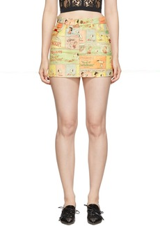 Marc Jacobs Multicolor Peanuts Edition 'The Micro' Skirt