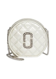 Marc Jacobs The Status Metallic Leather Round Crossbody Bag