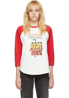 Marc Jacobs Off-White & Red New York Magazine Edition 'The Baseball T-Shirt' Long Sleeve T-Shirt