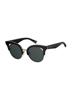Marc Jacobs Open-Inset Monochromatic Cat-Eye Sunglasses