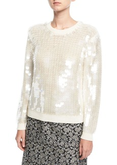 Marc Jacobs Paillette-Embellished Crewneck Sweater