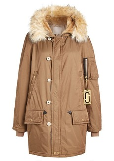 Marc Jacobs Parka Coat with Faux Fur Trim