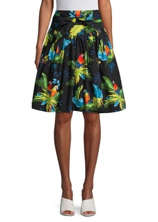 Marc Jacobs Parrot Belted Skirt