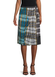 Marc Jacobs Patchwork Plaid A-line Skirt
