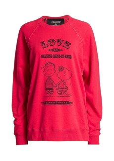 Peanuts® x Marc Jacobs The Love Distressed Cotton Sweatshirt