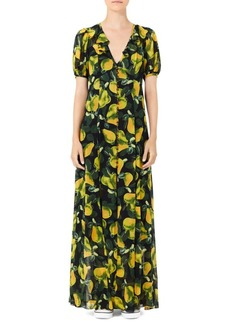 Marc Jacobs Redux Grunge Pear Georgette Maxi Dress