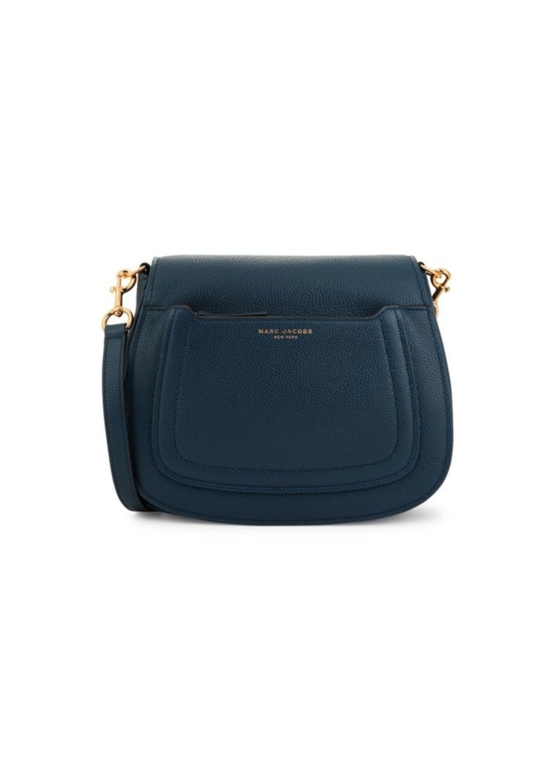 Marc Jacobs Pebbled Leather Saddle Bag