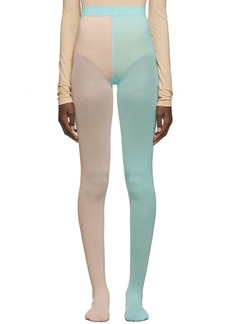 Marc Jacobs Pink & Blue 'The Left & Right' Tights