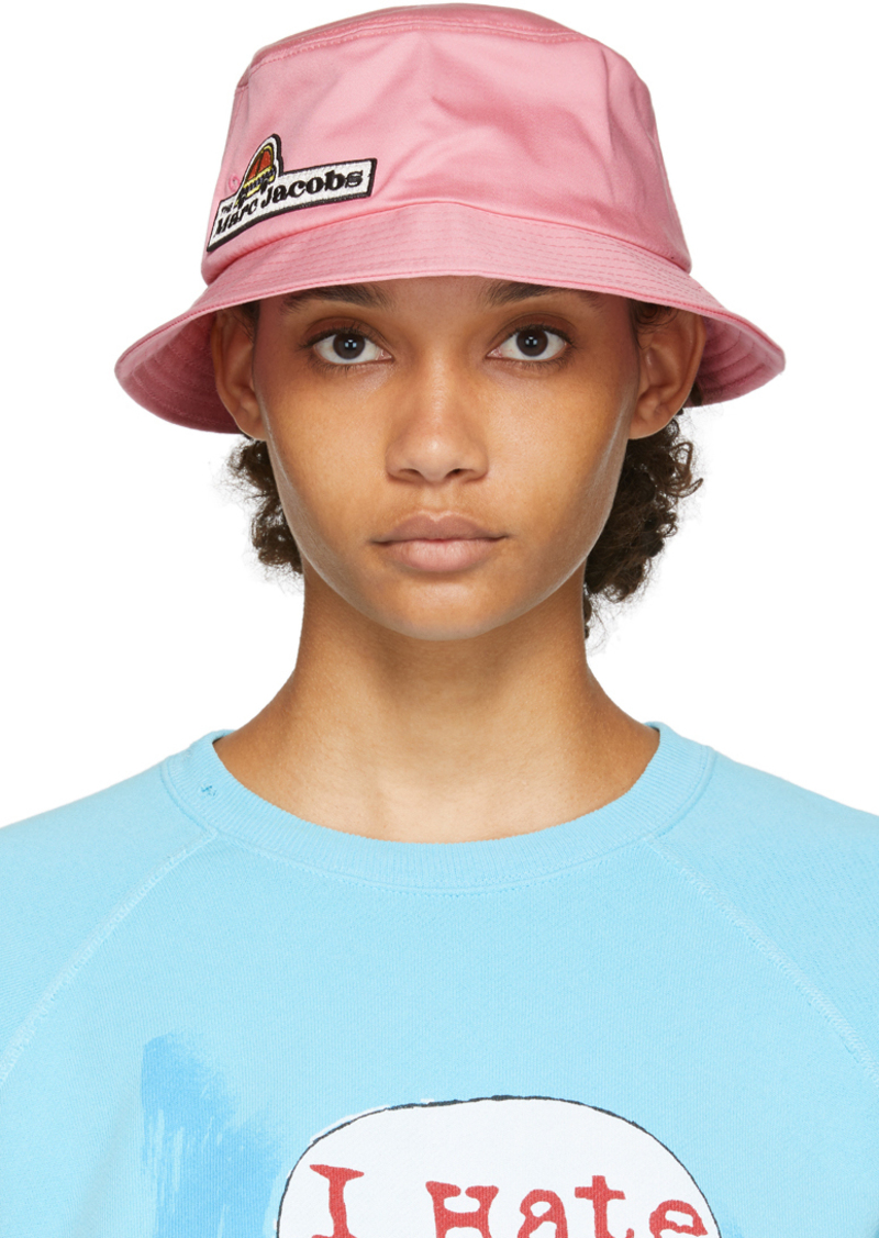 Marc Jacobs Pink Logo Bucket Hat