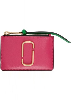 Marc Jacobs Pink Snapshot Top Zip Multi Card Holder
