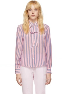 Marc Jacobs Pink Striped Silk Sofia Loves Shirt