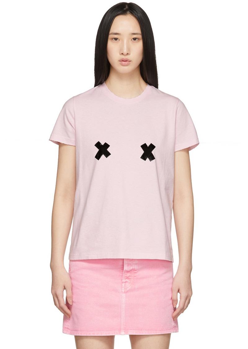 Marc Jacobs Pink 'The DIY' T-Shirt
