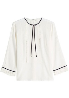 Marc Jacobs Pintuck Silk Blouse