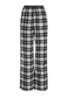 Marc Jacobs Plaid Silk Pants