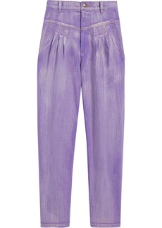 Marc Jacobs pleated high-rise tapered jeans