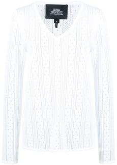Marc Jacobs pointelle V-neck jumper