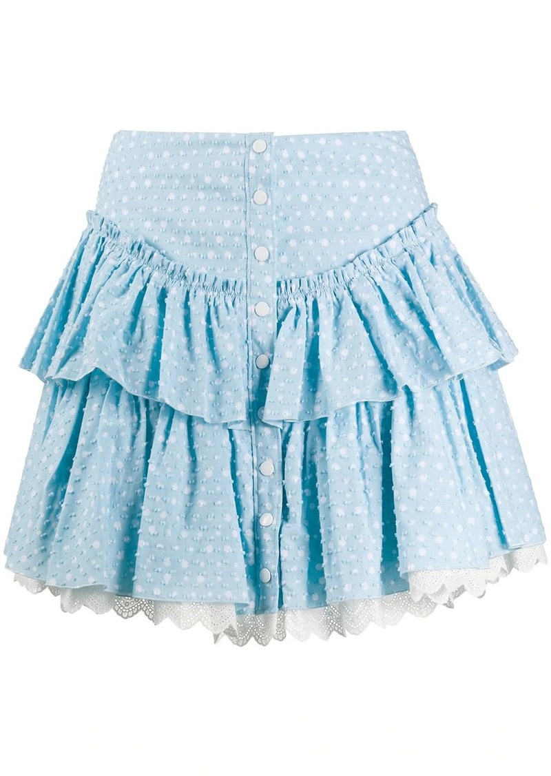 Marc Jacobs polka-dot print tiered ruffle mini skirt