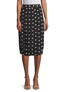 Marc Jacobs Polka Dot Silk Knee-Length Skirt