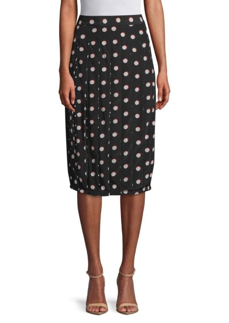 Marc Jacobs Polka Dot Silk Knee-Length Skirt