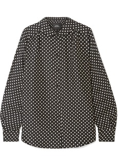 Marc Jacobs Polka-dot Silk-satin Shirt