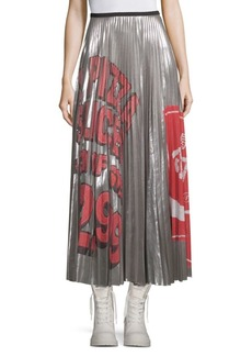 Marc Jacobs Printed Pleated Midi Skirt