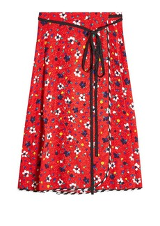 Marc Jacobs Printed Silk Wrap Skirt
