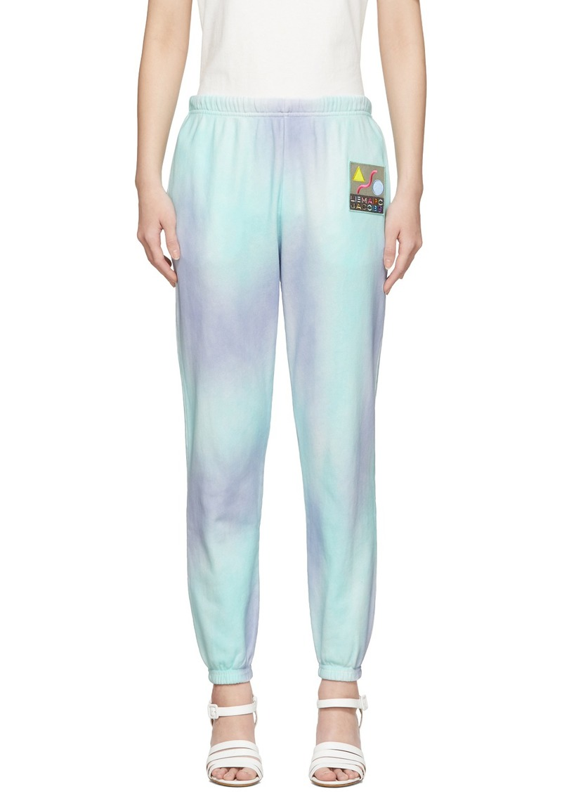Marc Jacobs Purple & Green 'The Airbrushed' Lounge Pants
